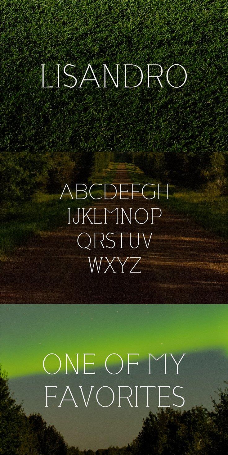 Free Lisandro Serif Font