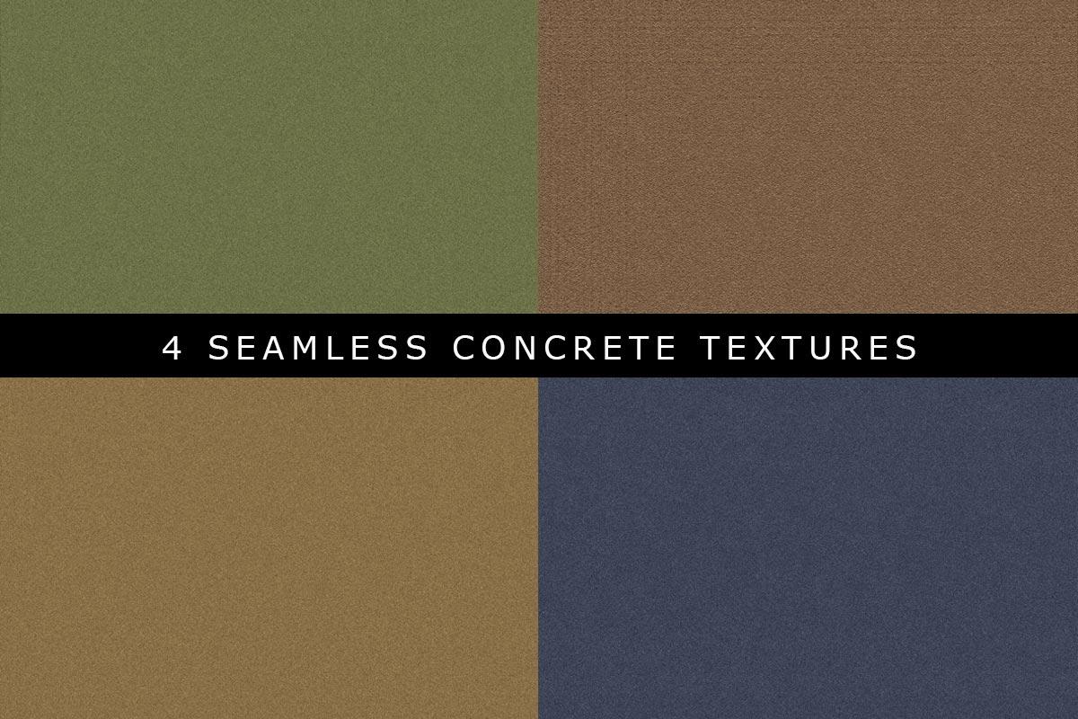 4 Free Seamless Concrete Textures