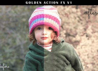 Free 3 Golden Photoshop Actions Ver. 1