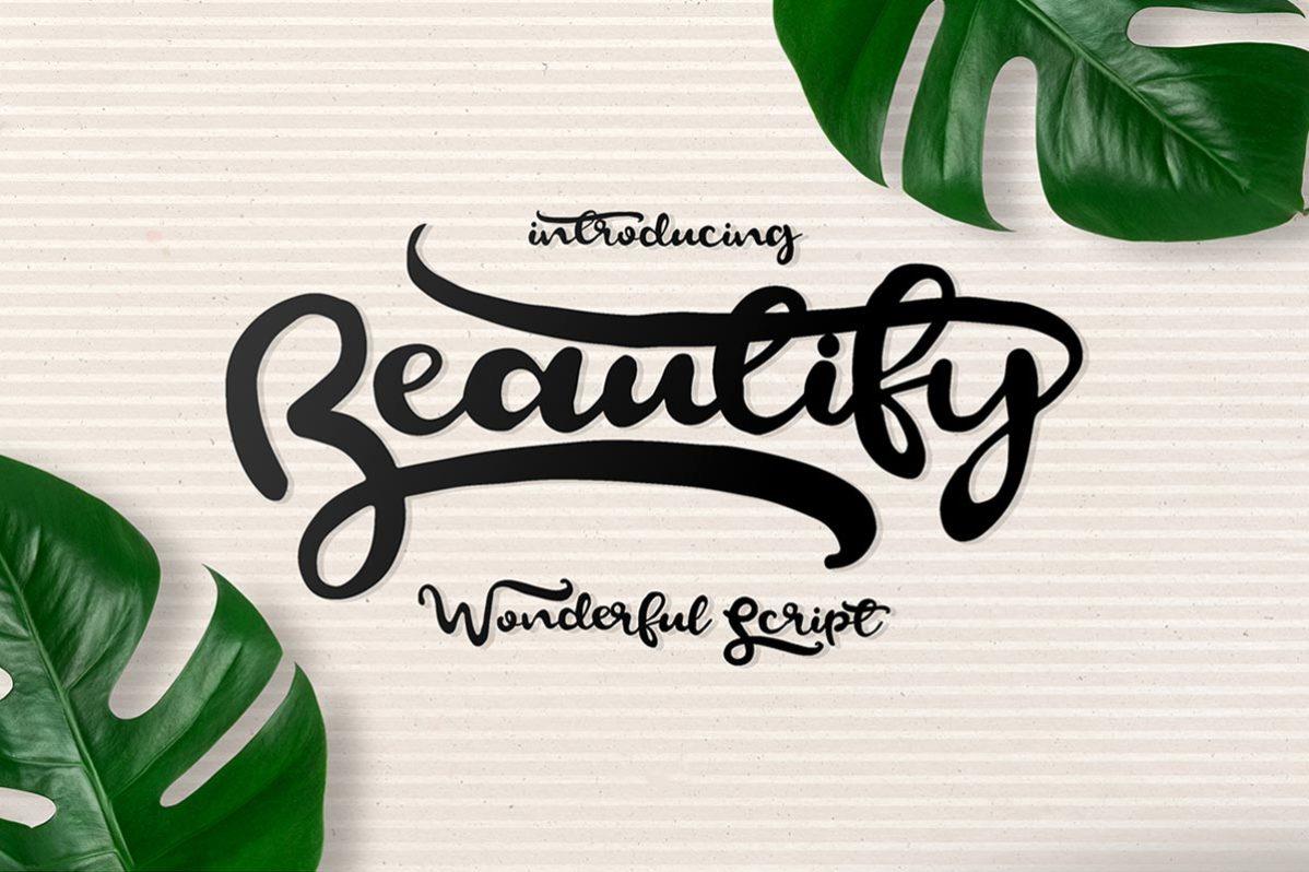 Free Beautify Script Font