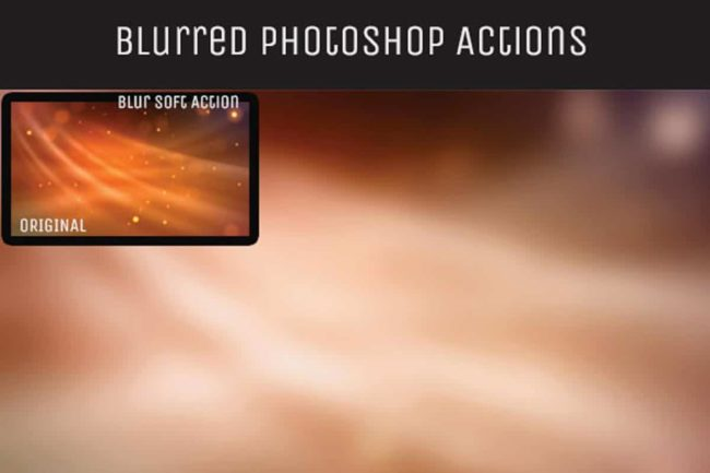 free blur background photoshop actions