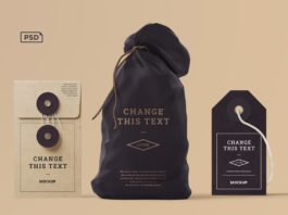 Free Box Tag Bag Branding Mockups
