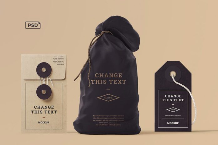 Free Box Tag Bag Branding Mockups