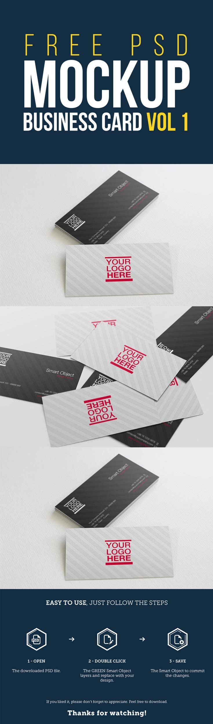 Blog grid page 48 of 147 free business cards mockups vol 1 reheart Gallery