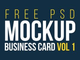 Free Business Cards Mockups Vol. 1