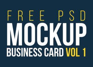 Free Business Cards Mockups Vol. 1