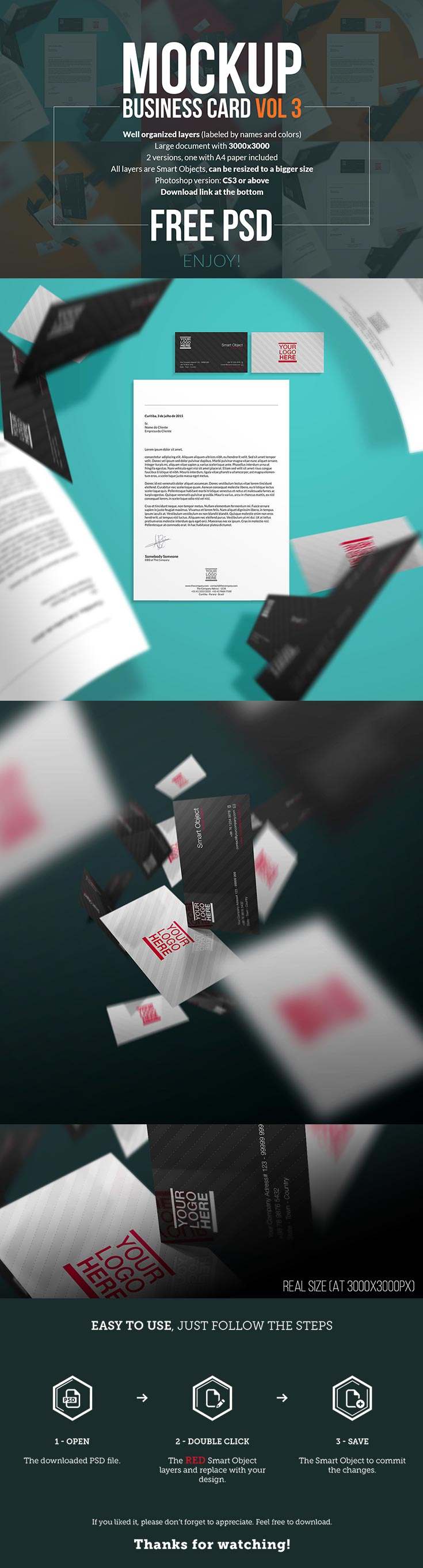 free business cards mockups vol 3 — creativetacos