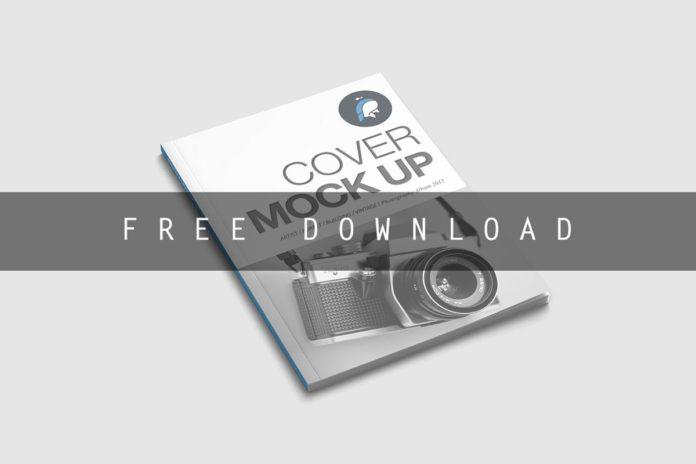 Free Cover Magazine Mockup