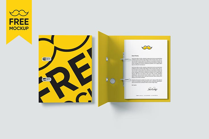 Free Folder Mockup PSD is a template that allows you to turn your own custom artwork into a polished representation of your finished product.