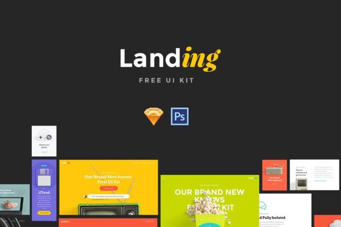 Free Landing Page UI Kit