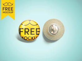 Free Pin Mockup PSD