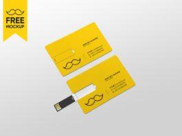 Free USB Card Mockup