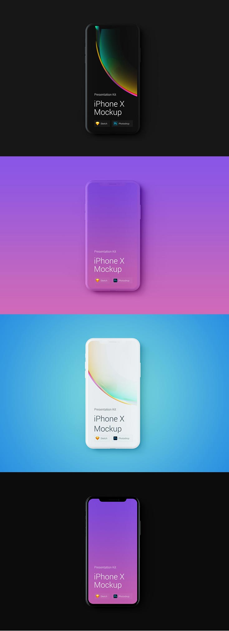 Free iPhone X Mockup PSD for showcasing your apps and UI design in a stunning new look. This new iphone X from Apple features an edge-to-edge screen.