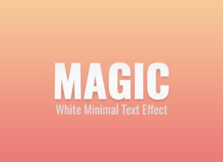 Free White Minimal PSD Text Effect