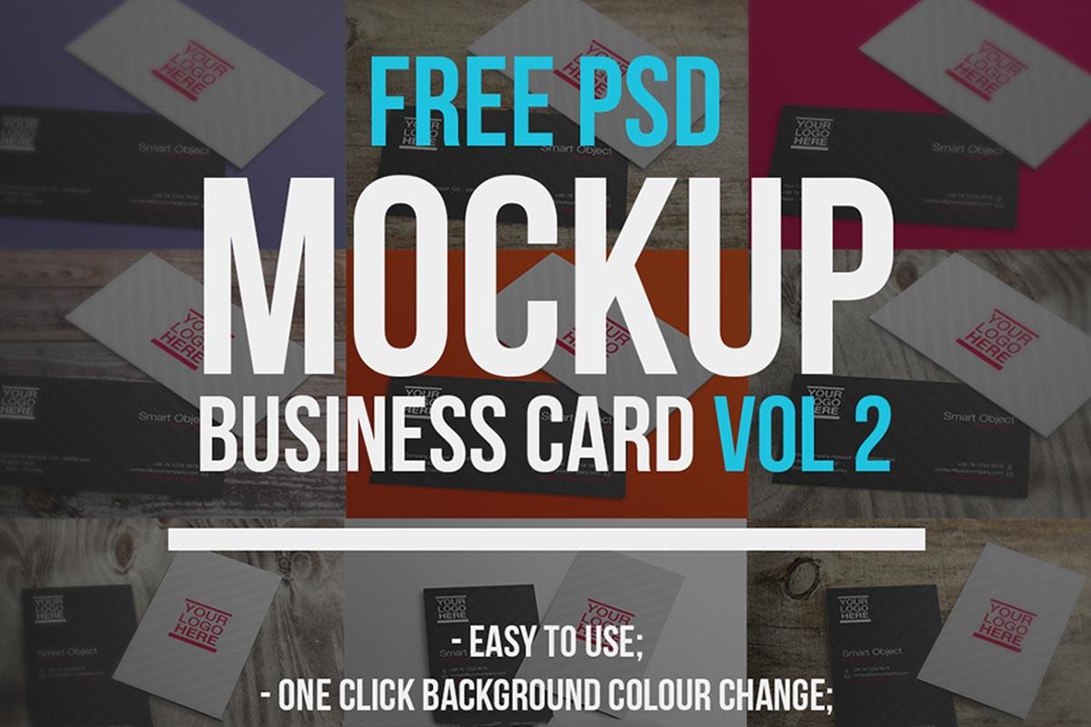 Free Business Cards Mockups Vol. 2
