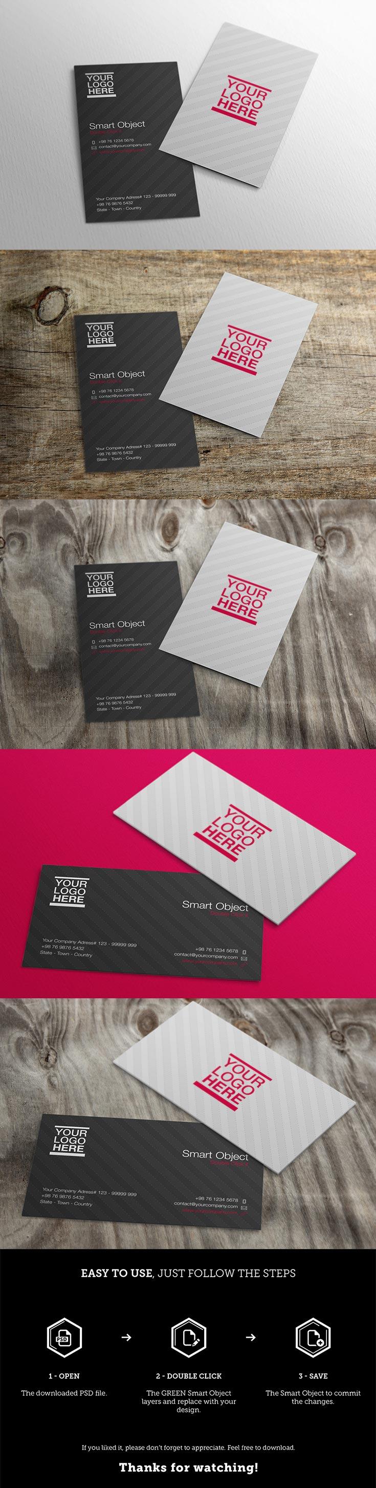 free business cards mockups vol 2 — creativetacos