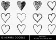 Hearts Doodle Clipart