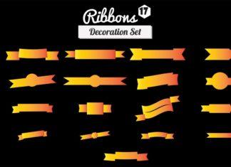 17 Free Ribbons Decoration Set
