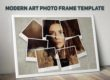 2 Free Modern Art Photo Frame Template