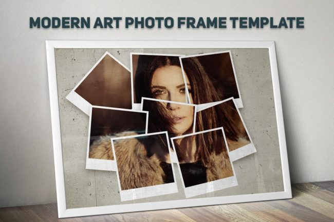 2 Free Modern Art Photo Frame Template