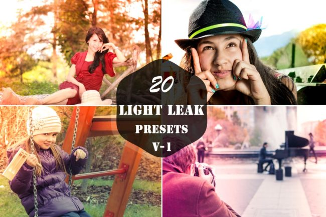 20 Free Light Leak Lightroom Presets Ver. 1