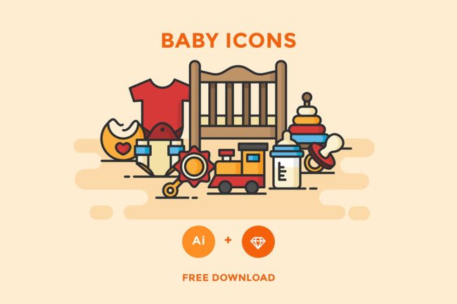 Free Baby Vector Icons Pack