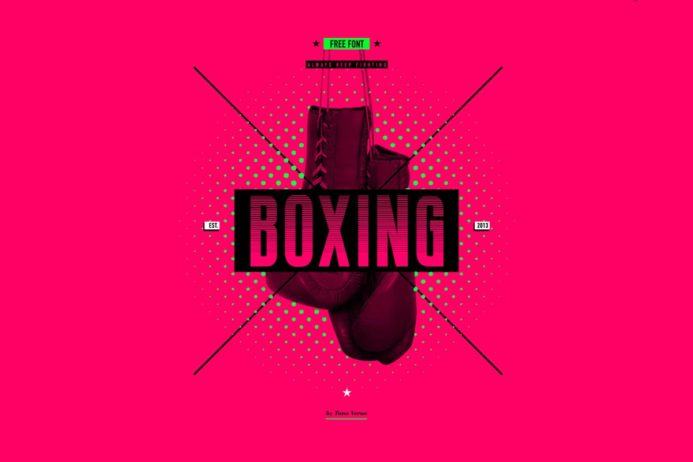 Free Boxing Display Font