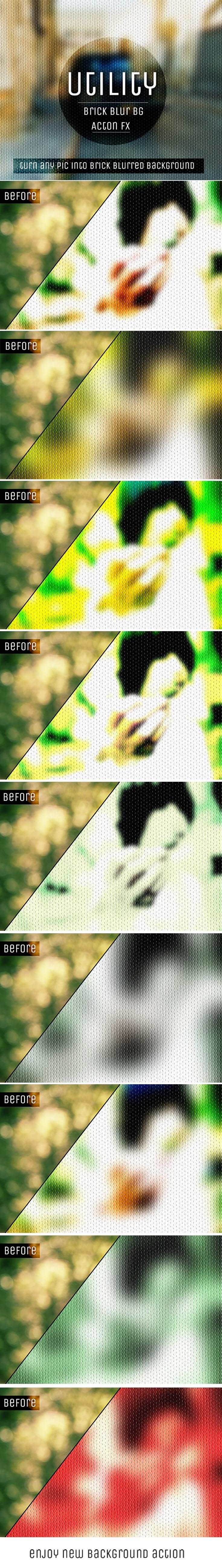 Free Brick Blur Background Photoshop Action
