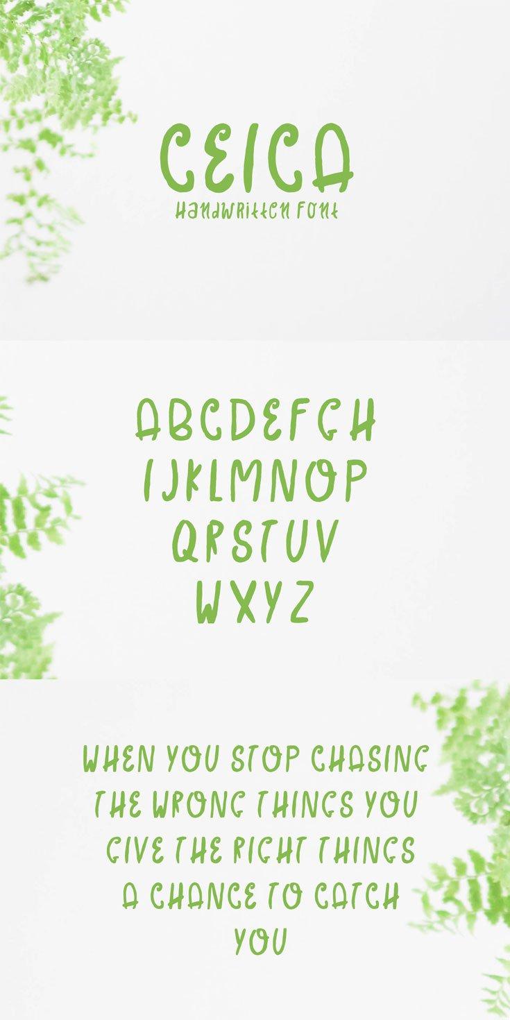 Free Ceica Handwritten Font