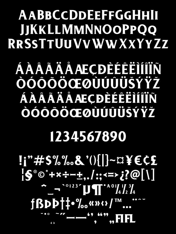 Free Deadhead Serif Font