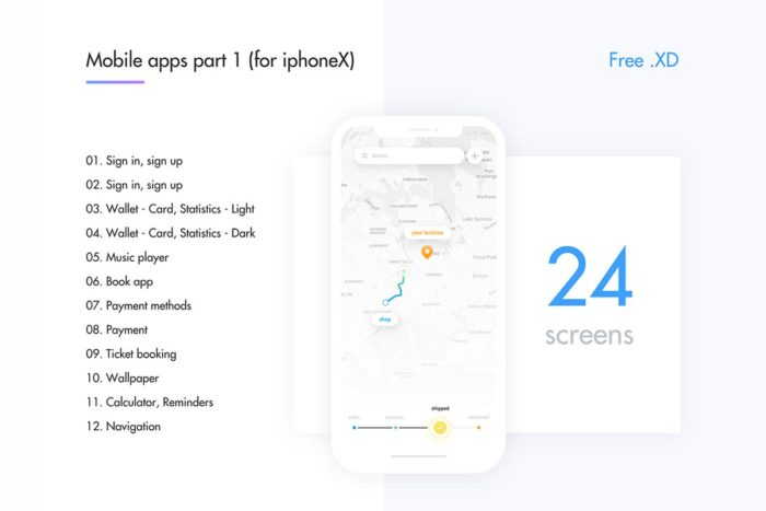 Free Mobile Apps IphoneX Ver. 1