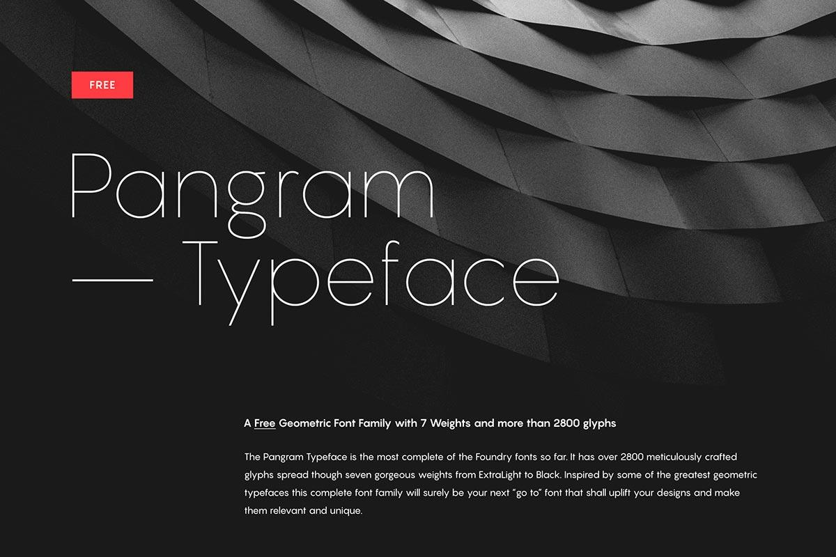 Free Pangram Sans Serif Font