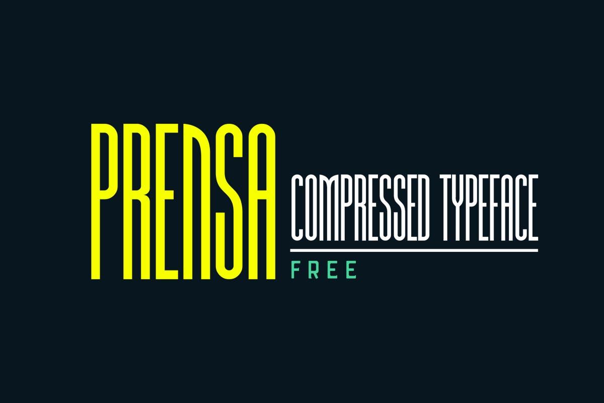 Free Prensa Display Font
