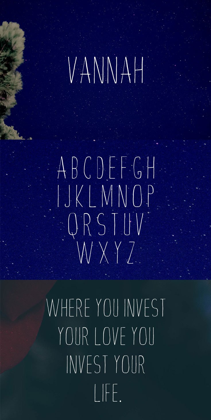 Free Vannah Handmade Font
