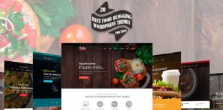 20 Best Food Blogging WordPress Themes For 2018
