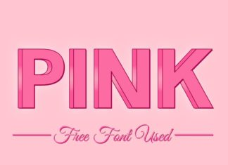 Free 3D Pink PSD Text Effect
