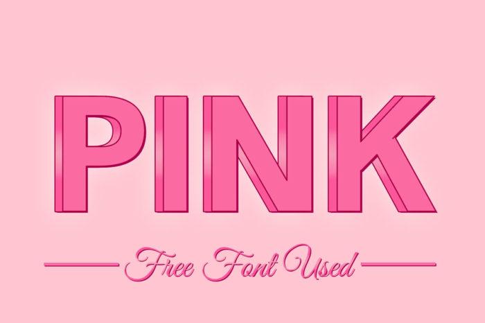 Free 3D Pink PSD Text Effect