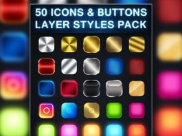 50 Free Photoshop Icon Styles Pack