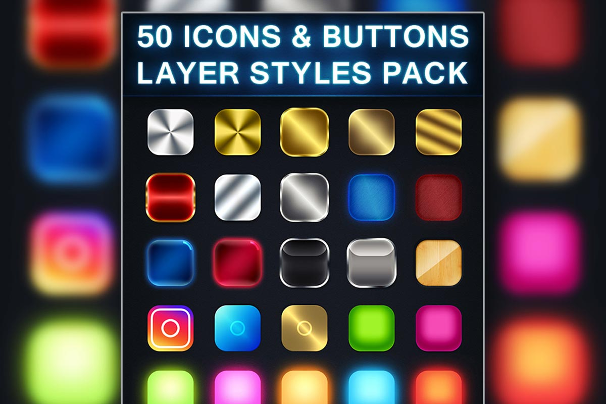 50 Free Photoshop Icon Styles Pack - Creativetacos
