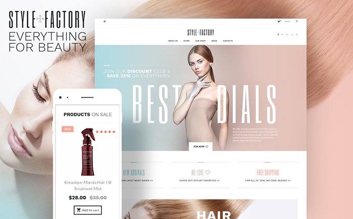 Style Factory - Hair Care & Hair Styling WooCommerce Theme