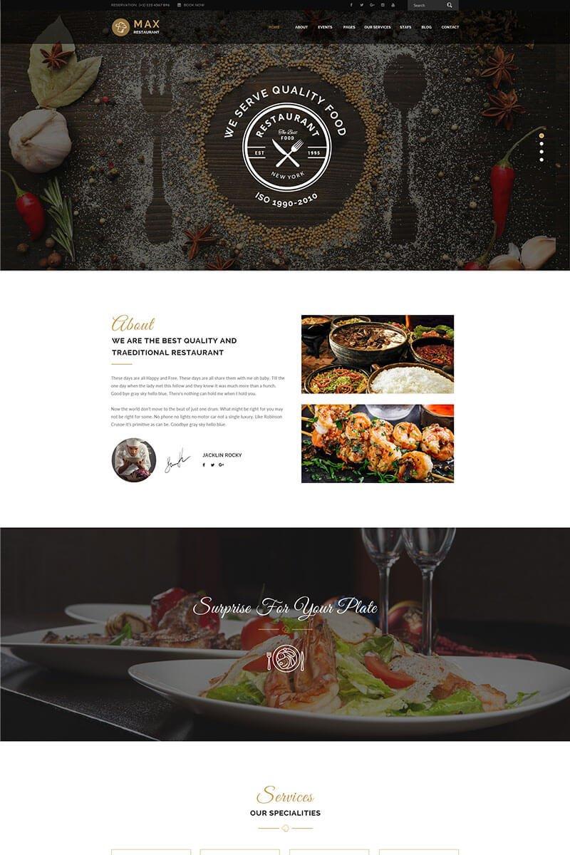 Restaurant - Responsive WordPress Theme WordPress Theme