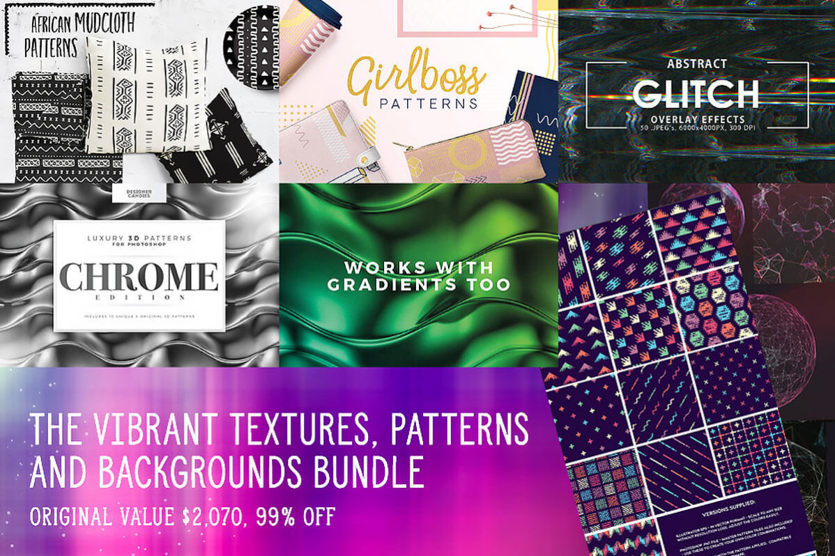 A Diverse Collection of Textures, Patterns & Backgrounds