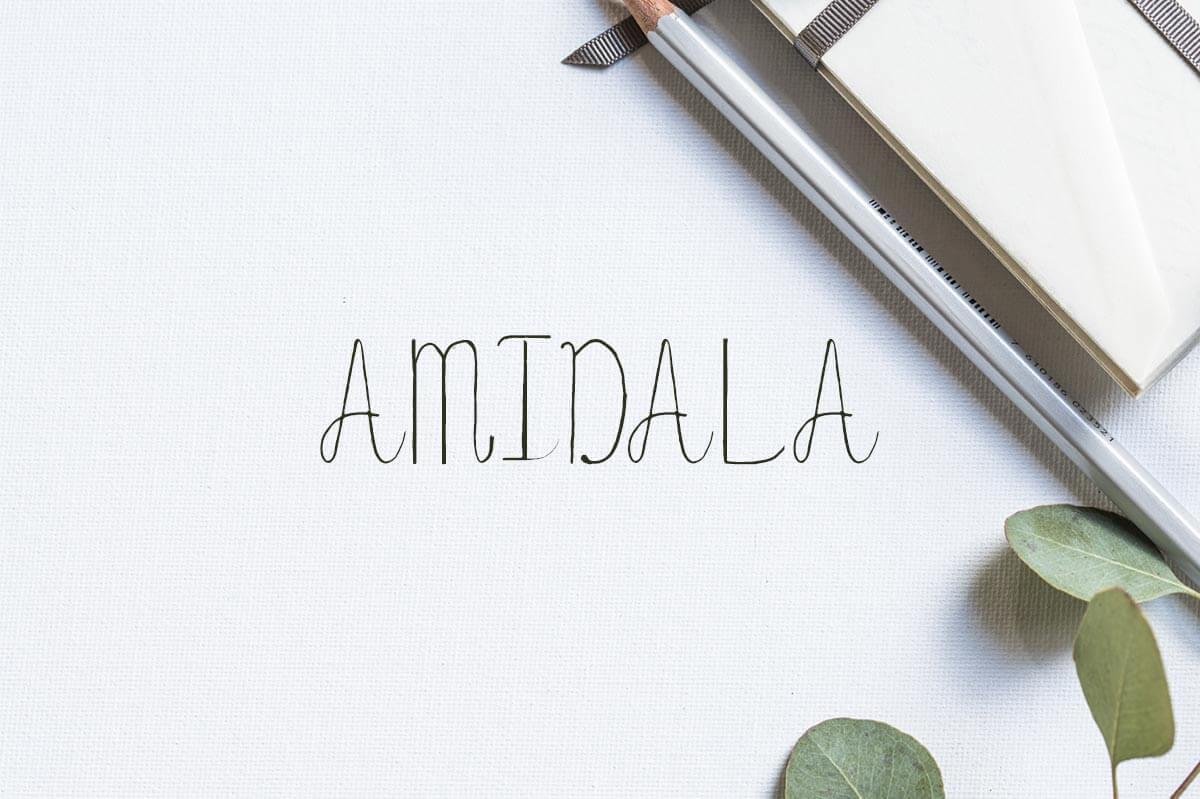 Free Amidala Handwriting Script Demo Font