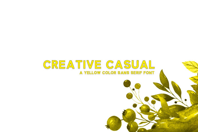 Free Creative Casual Sans Serif Color Font