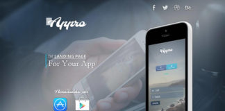 Free Appro App Website PSD Template