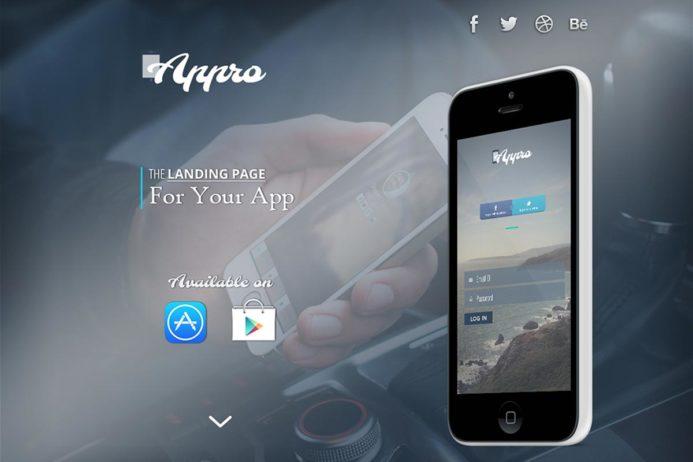 Free Appro App Website PSD Template