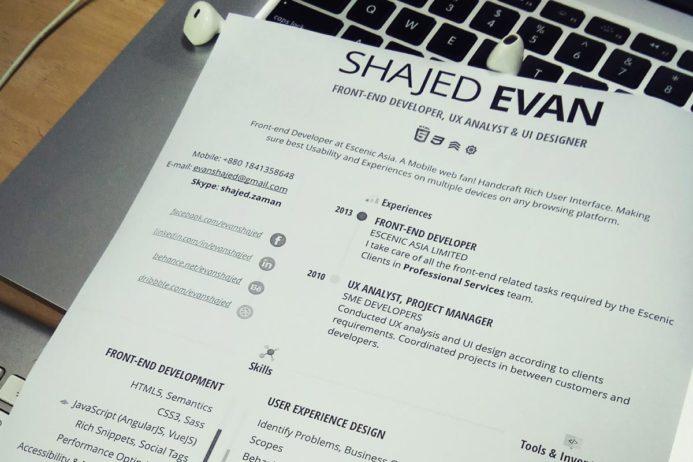 Free Creative Resume Designers