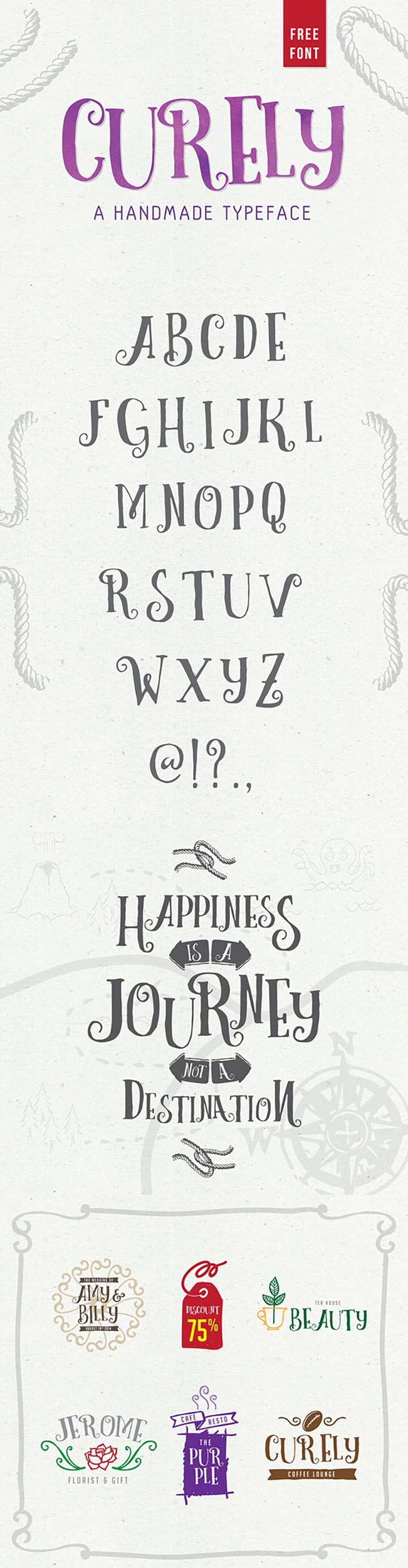 Free Curely Handmade Decorative Font Is Inspired From A Y Stuffs And Cuteness Overload In Every