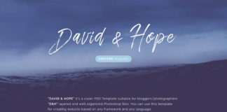 Free David Hope PSD Template