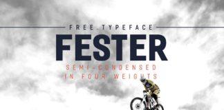 Free Fester Sans Serif Typeface